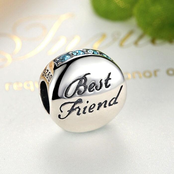 Sterling Silver Best Friend Charm