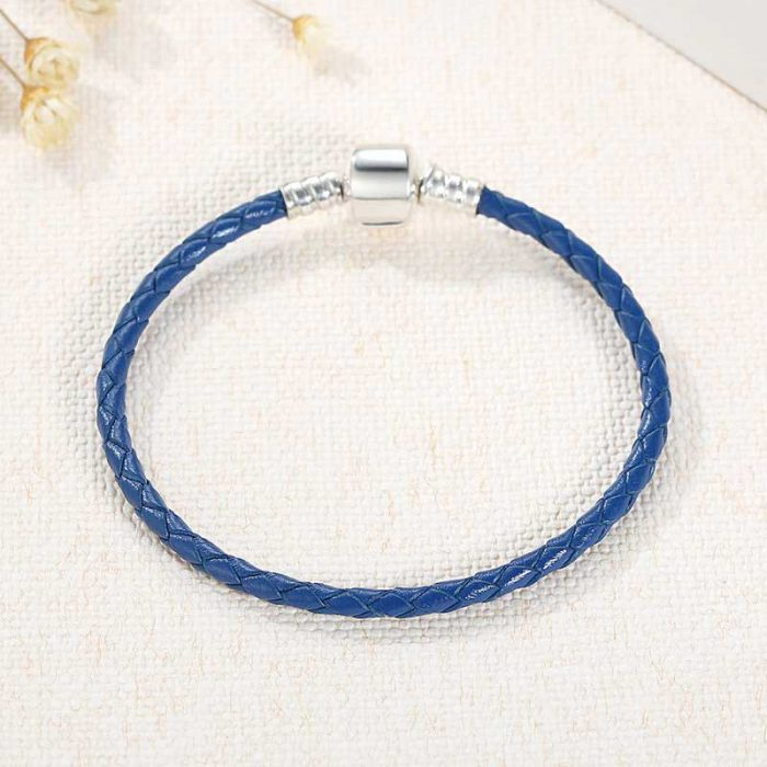 Charmhouse Blue Leather Bracelet