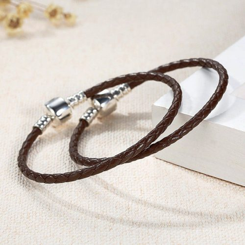 Charmhouse Brown Leather Bracelet