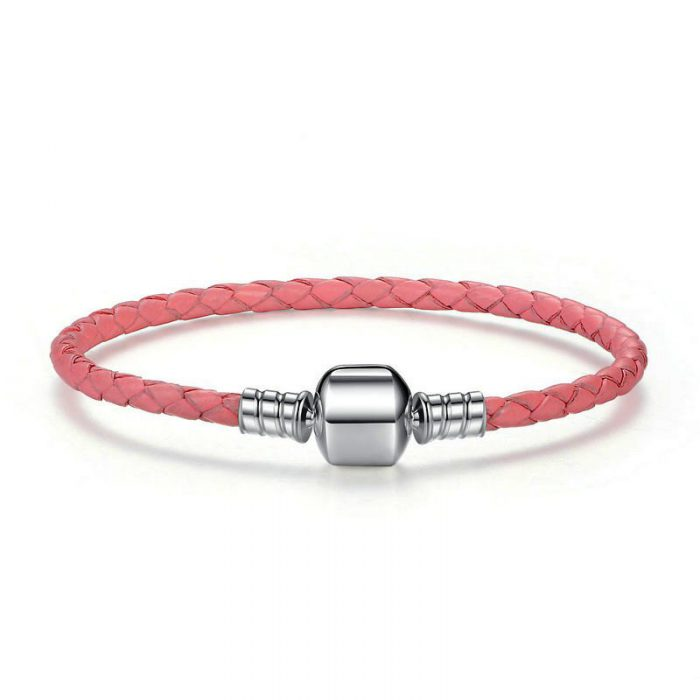 Charmhouse Pink Leather Bracelet