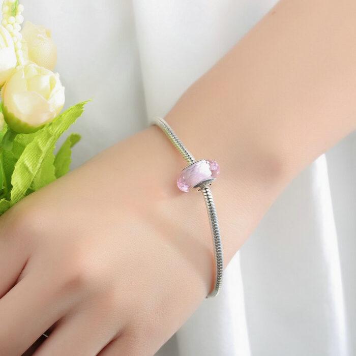 Pink Crystal Murano Glass