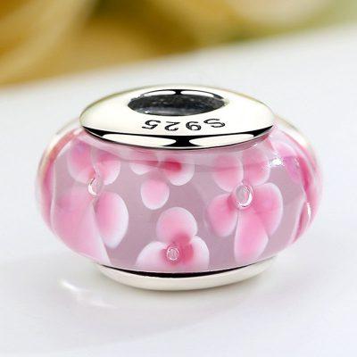 Pink Petals Murano Glass