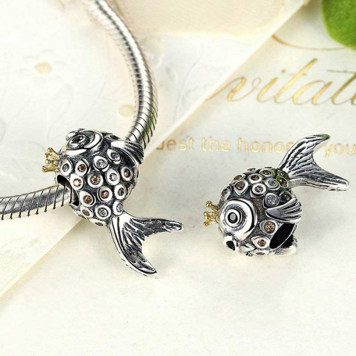 Sterling Silver Goldfish Charm