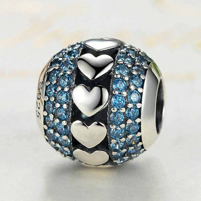 Silver Heart to Heart Charm
