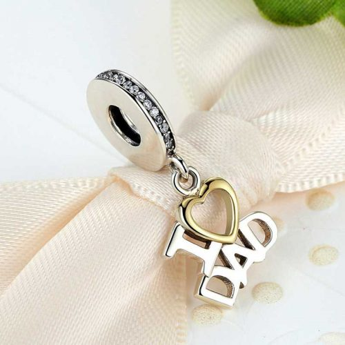 Sterling Silver I Love Dad Pendant