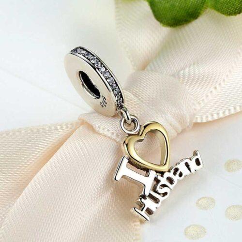 Sterling Silver I Love Husband Pendant