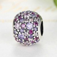 Sterling Silver Purple Shadows Ball Charm