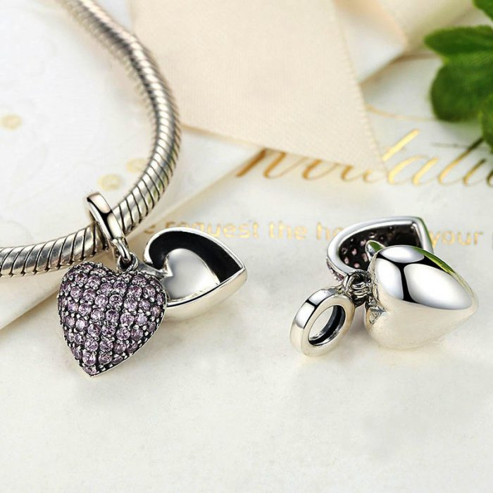 Sterling Silver Three Hearts Pendant